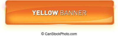 Vector illustration of realistic glass colored banner isolated on white background for your design.