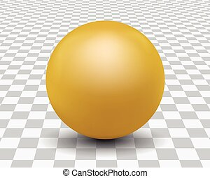 Vector illustration of realistic golden pearls with shadow and reflections isolated on background