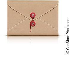 manila envelope - Vector illustration of realistic manila...
