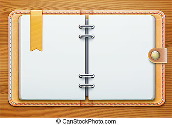 personal organizer - Vector illustration of realistic ...
