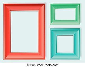 Picture Frames - Vector Illustration of Realistic Picture...
