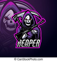 Vector illustration of Reaper esport logo mascot design