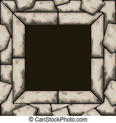 Rectangle frame with stone seamless pattern - Vector...