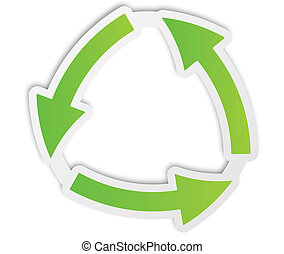 recycle green icon paper