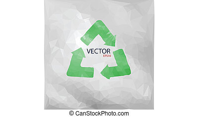 Vector illustration of recycled paper