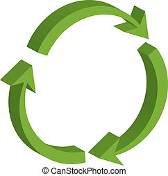 recycling symbol - Vector illustration of recycling symbol