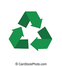 recycling symbol - Vector illustration of recycling symbol ...