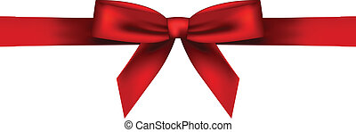 Vector illustration of red bow