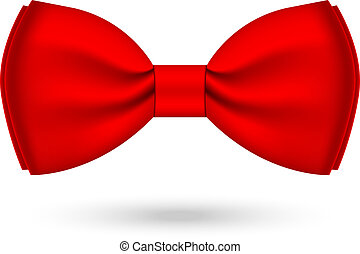 Vector illustration of red bow-tie