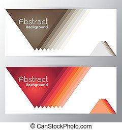 Vector illustration of red brown Orange triangle Text space gap switchingabstract curves Gradient  background with on gray background