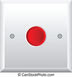Vector illustration of red button