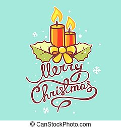 Vector illustration of red christma