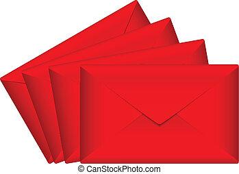 Vector illustration of red envelope