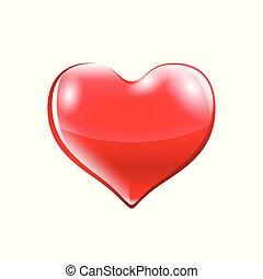 Vector illustration of red heart.