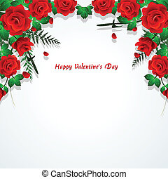 red roses with leaves background