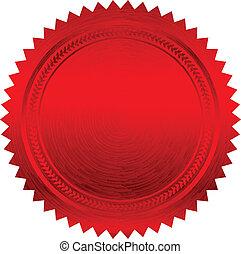 Vector illustration of red seal