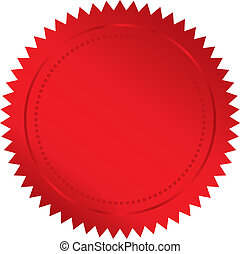 red seal - Vector illustration of red seal