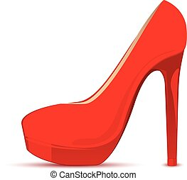 Vector illustration of red shoe