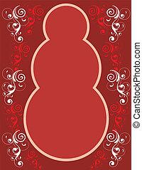 Red Snowman Border