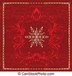 Red Square Snowflake