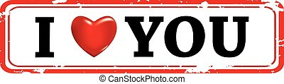 Vector illustration of red stamp with the image of heart