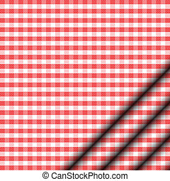 Vector illustration of red tableclo