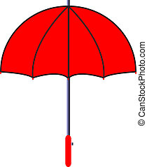 Vector illustration of red umbrella