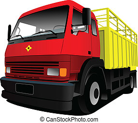 Vector illustration of red-yellow