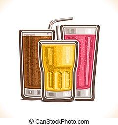 Vector illustration of refreshing Drinks