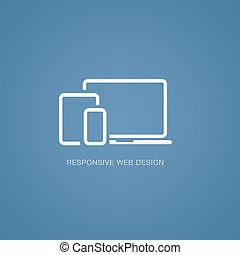 Vector illustration of responsive w
