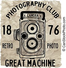 Vector illustration of retro camera