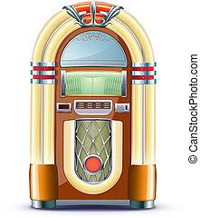 classic juke box - Vector illustration of retro style ...