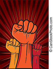 vector illustration of revolution fist