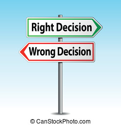 decision arrows signs