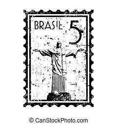 Vector illustration of Rio de Janeiro Stamp