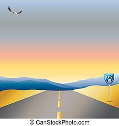 Vector illustration of road background