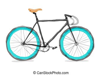 Vector illustration of road bicycle.