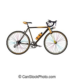 Vector illustration of road bike in flat style