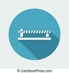 Vector illustration of road border icon