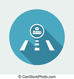 Vector illustration of road icon - Hotel direction
