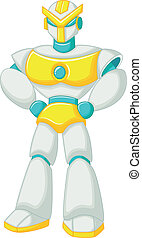 Robot cartoon posing