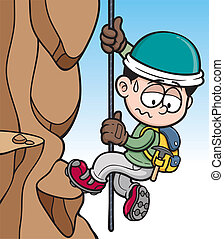 Rock climber - Vector illustration of Rock climber
