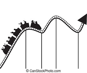 Vector illustration of Roller coaster graph