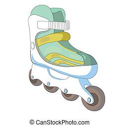 Vector illustration of roller skates.