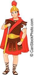Roman soldiers holding swords