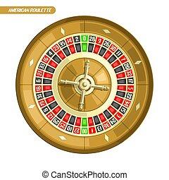 Vector illustration of Roulette Wheel