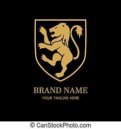 Royal lion logo design template