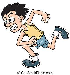 Vector illustration of Runner man