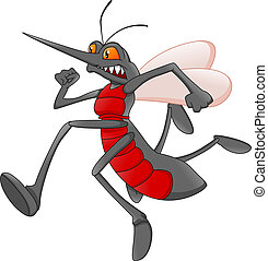 running mosquito cartoon