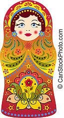 matryoshka - Vector illustration of russian doll matryoshka...